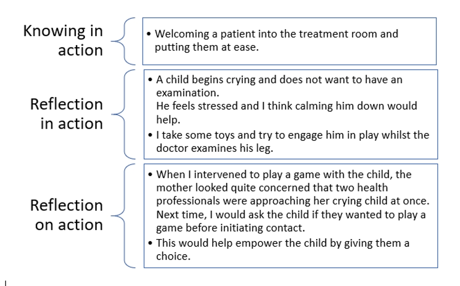 An Example Of Schons Reflective Practice