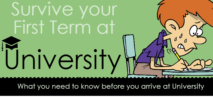 Survive Your First Term at University [Infographic]