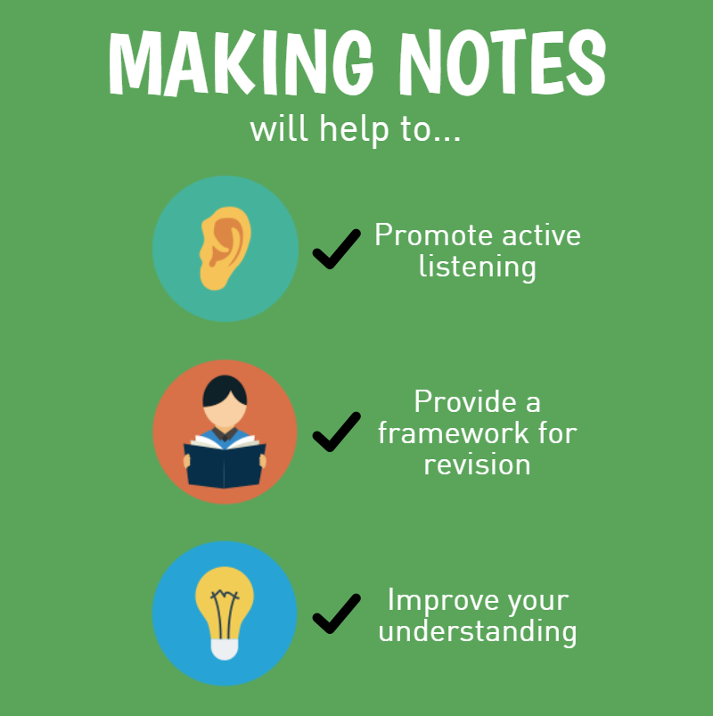 Methods and importance of note making